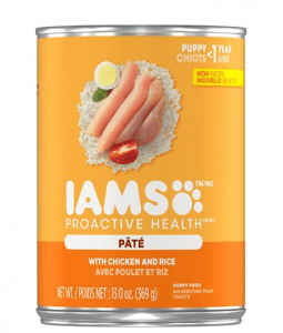 Iams Proactive Health Puppy with Chicken and Rice PATE