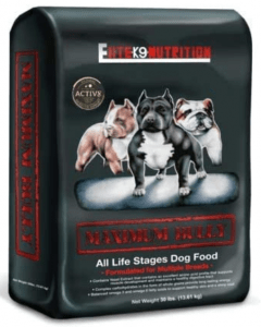 MAXIMUM BULLY ELITE K9 NUTRITION CHICKEN AND PORK DOG FOOD