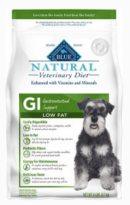 BLUE NATURAL VETERINARY DIET GI GASTROINTESTINAL SUPPORT LOW FAT DRY DOG